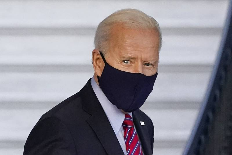 President Joe Biden walks to board Marine One on the South Lawn of the White House, Friday, Feb. 5, 2021, in Washington.